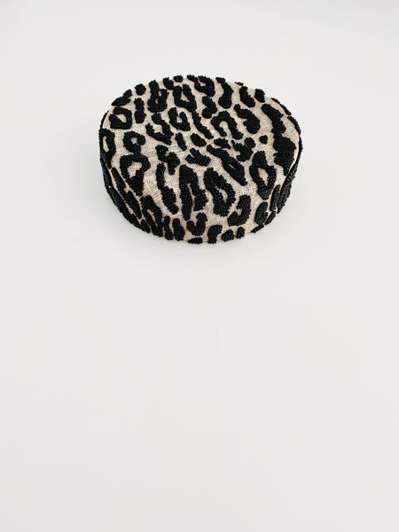 Leopard Beaded Pillbox