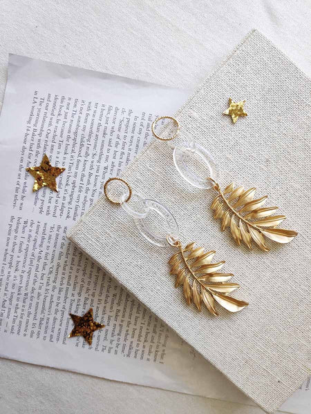 EDELWEISS LEAF EARRINGS