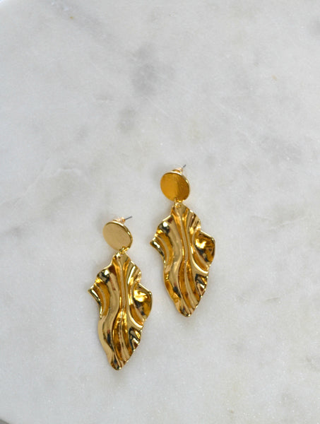 MALIA GOLDEN LEAF EARRINGS
