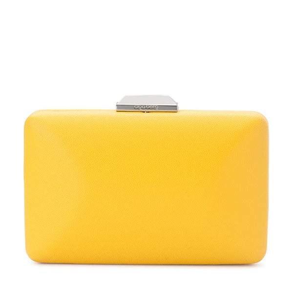 SONIA PEBBLED CLUTCH - YELLOW