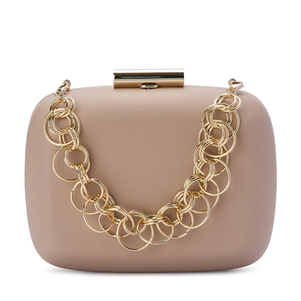 STELLA RING CHAIN CLUTCH - NATURAL
