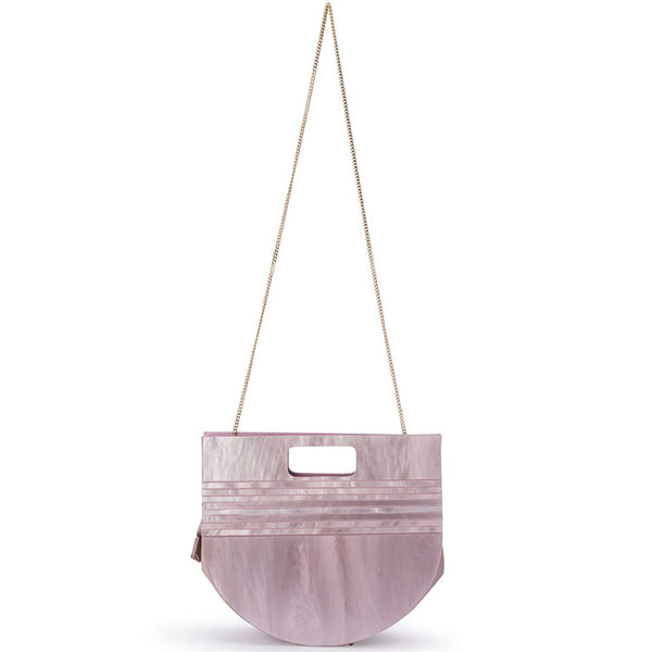 NAT PEARLESCENT ACRYLIC BAG - PINK
