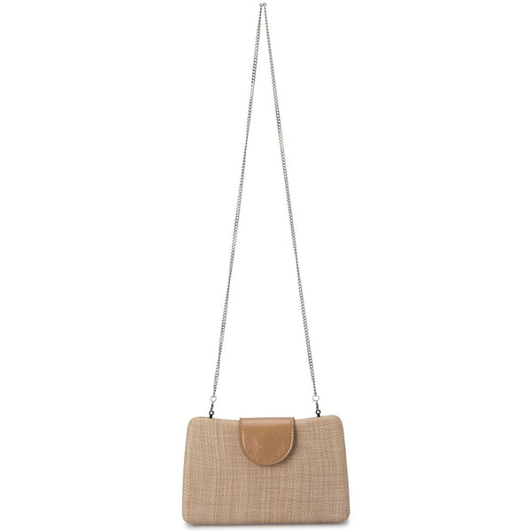 KAITY WOVEN STRAW CLUTCH - NATURAL
