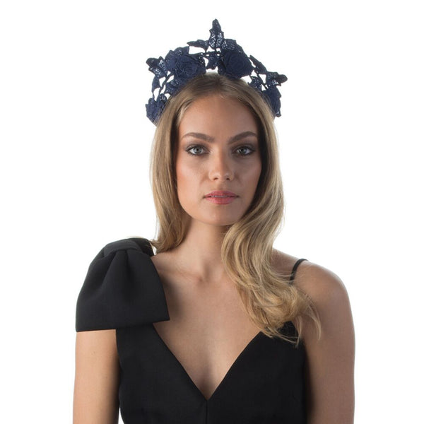 ARIEL LACE HALO - NAVY