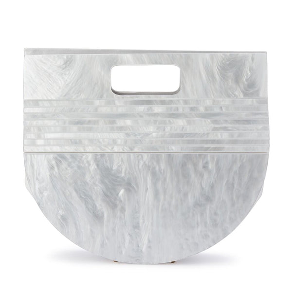 NAT PEARLESCENT ACRYLIC BAG - WHITE