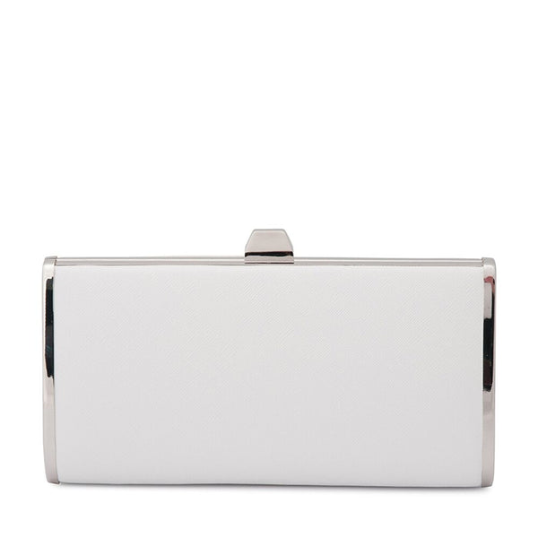 XANDER TEARDROP CLUTCH - WHITE