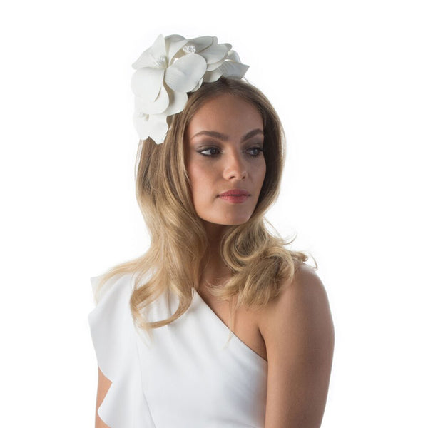 DAISY HEADBAND - WHITE