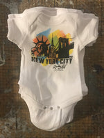 New York City- Handpainted Baby Onesie