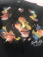 Basquiat- Handpainted Black S/S Tee