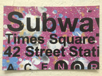 Times Square Subway Sign- NYC