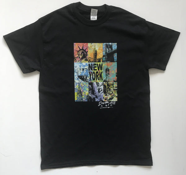 NYC Collage Black S/S Tee