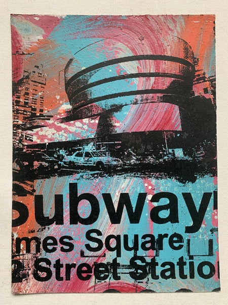 Guggenheim Museum / Times Square Station Subway Sign (medium) - NYC