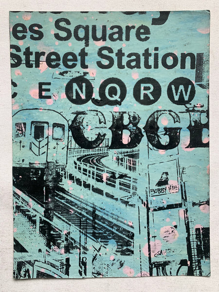 Times Square Subway Sign / Train / CBGB (medium) - NYC