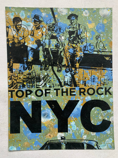 Top Of The Rock Ironworkers 2 Cartoon (medium) - NYC