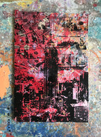 Empire Mindstate Red NYC (2018)- Original Mixed Media Painting