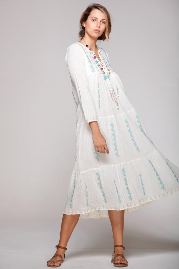 HUGUETTE Embroidered Dress