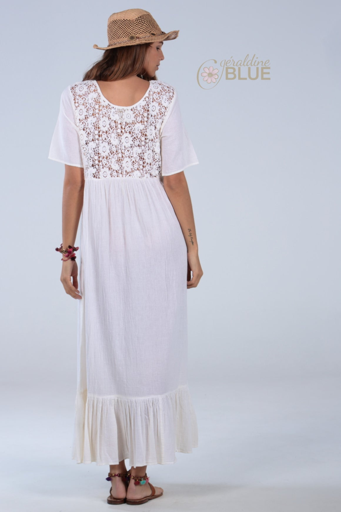 LUCY Dress with crochet - Boho style