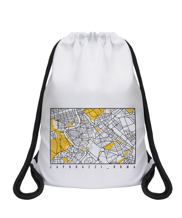 Drawstring Bag Zaporazzi Rome map souvenir