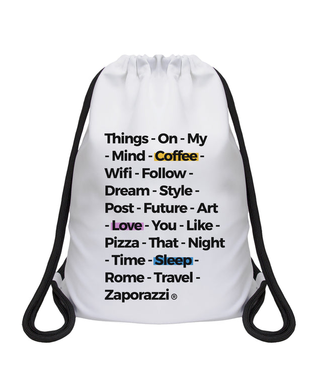 Things On My Mind Drawstring Bag