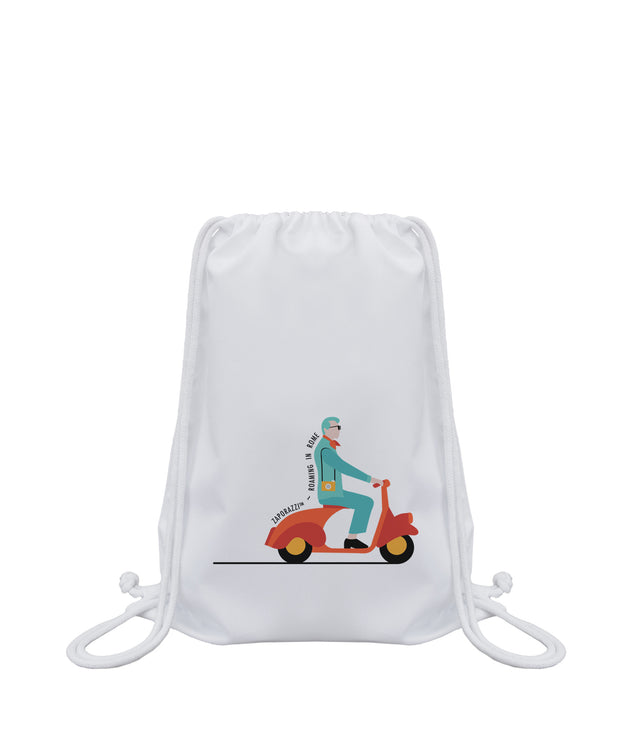 Scooter Drawstring Bag | Rome