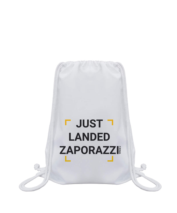 Just Landed Drawstring Bag