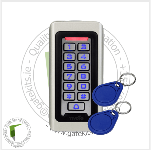 Tivdio Keypad Rfid Access Control System Proximity Card - Without Transformer - Keypad
