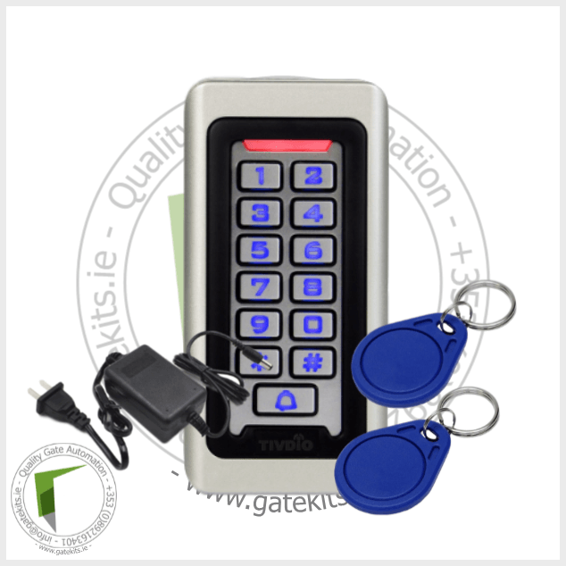 Tivdio Keypad Rfid Access Control System Proximity Card - With Transformer - Keypad