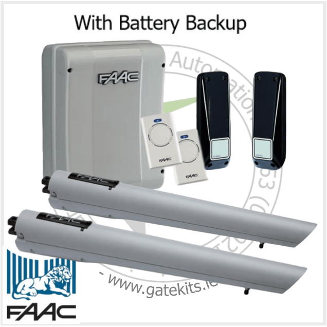 Faac S418 Kit-105998-104301 - With Battery Backup - Mechanical Ram Kit