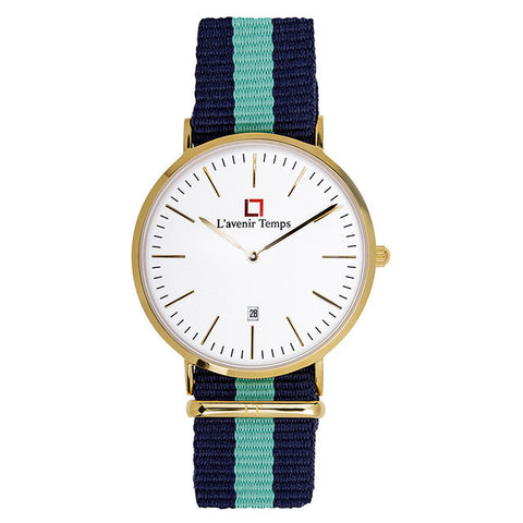 Classic Gold with Nato Green Strap