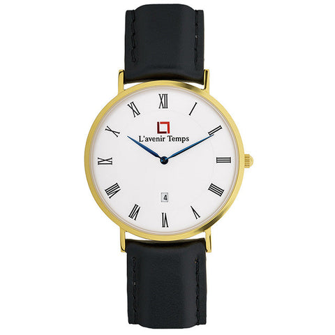 Classic Roman Gold with Black Strap