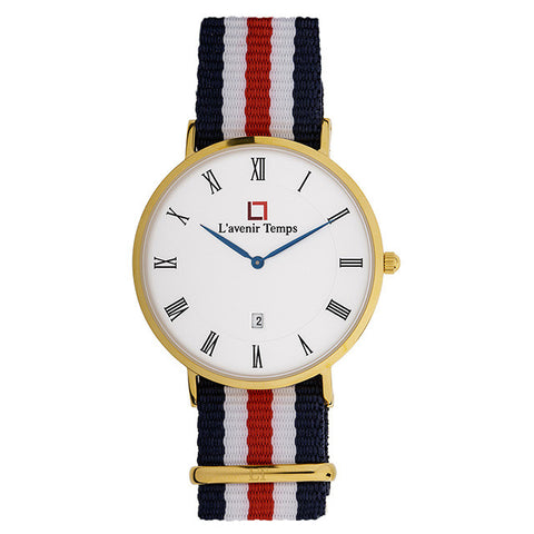 Classic Roman Gold with Nato Red Strap