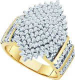 cascade diamond ring