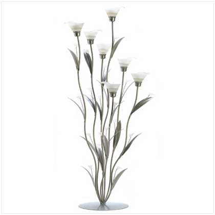 Silver Calla Lily Candleholder - Diana's Space