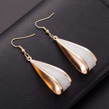 Silver/Gold Crystal Drop Hook  Earrings - Diana's Space