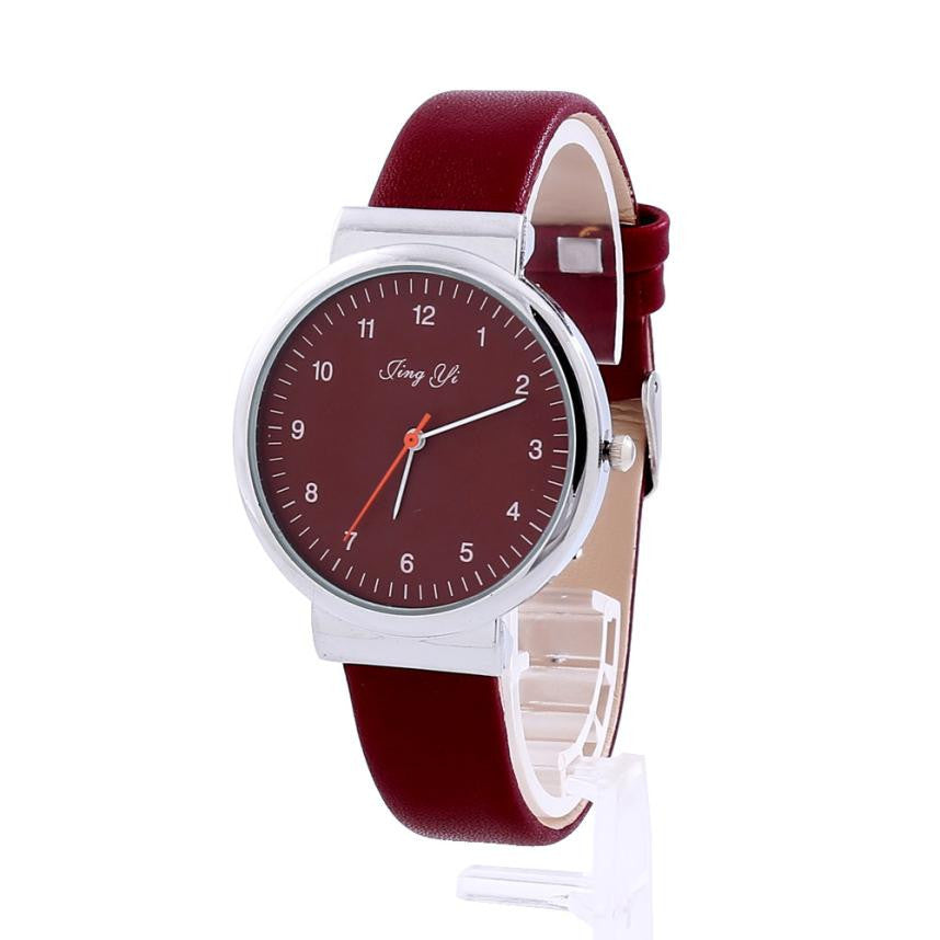 Classic Men's Watch Roman Number Quartz Leather Watch Relogio - Diana's Space