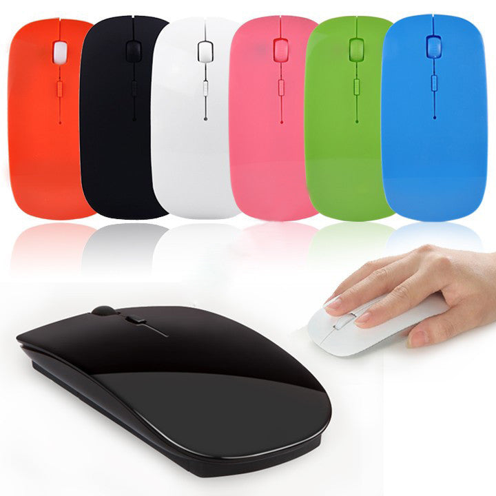 Ultra Thin 2.4G Wireless 4D 800 1000 1200DPI Optical Mouse - Diana's Space