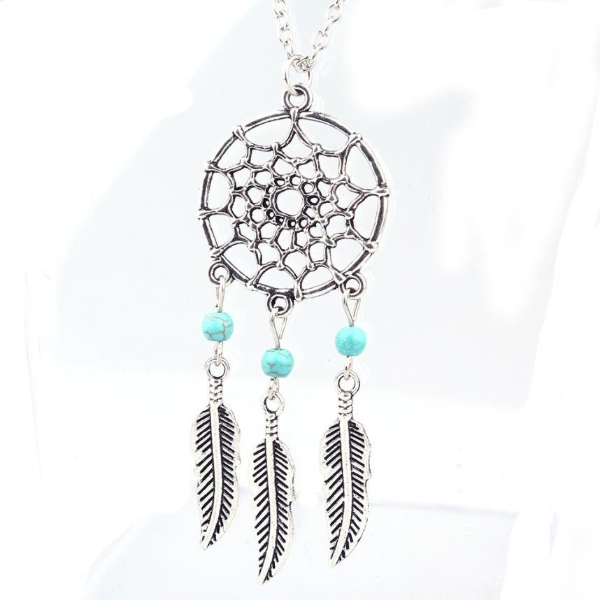 Retro Jewelry Dream Catcher Pendant Chain Necklace - Diana's Space