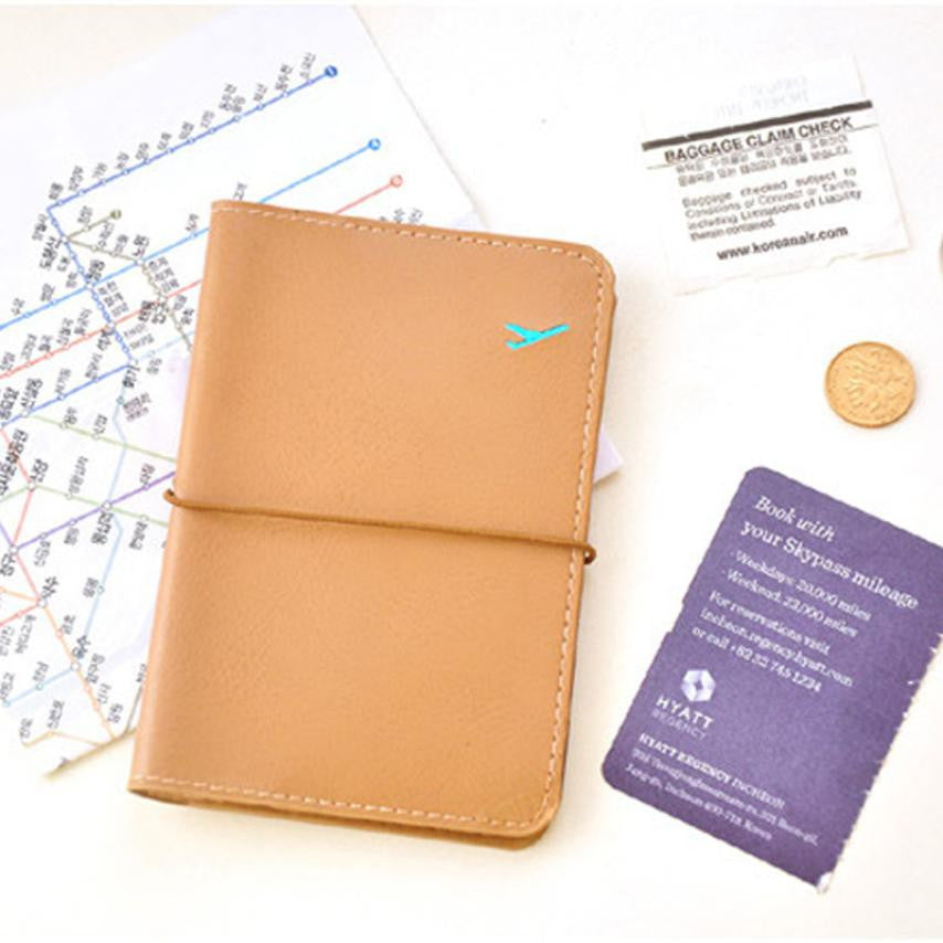 Leather Passport Holder Card Case - Diana's Space