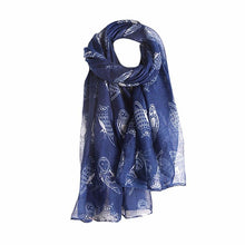 Owl Print  Warm Wrap Scarf - Diana's Space
