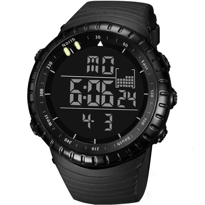 Men Ditgal LED Sport Military Rubber Waterproof Quartz Watch - Diana's Space