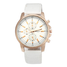 Geneva Leather Quartz Analog Dial Sport Watch - Diana's Space