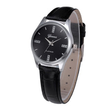 Women Watch Leather Belt Stainless Steel Dial Quartz Wrist Watch - Diana's Space