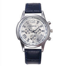 Geneva Men's Leather Band Analog Quartz Watch - Diana's Space