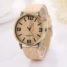 Women's Vintage Wood Grain Quartz Watch - Diana's Space