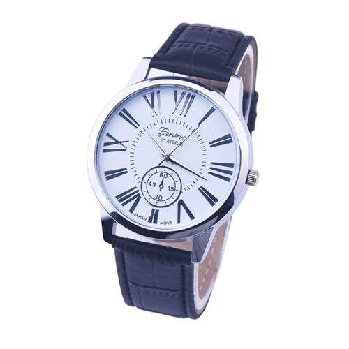 Men's Sports Leather Quartz Watch - Diana's Space