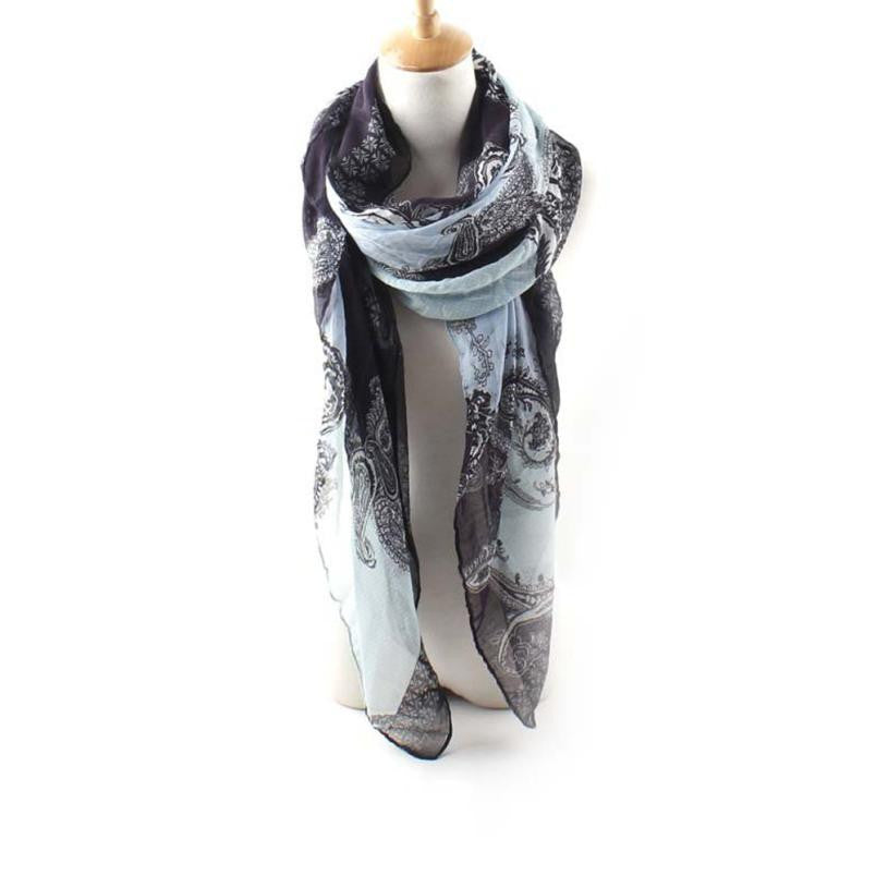 Women's Silk Scarf in 3 Prints - Diana's Space