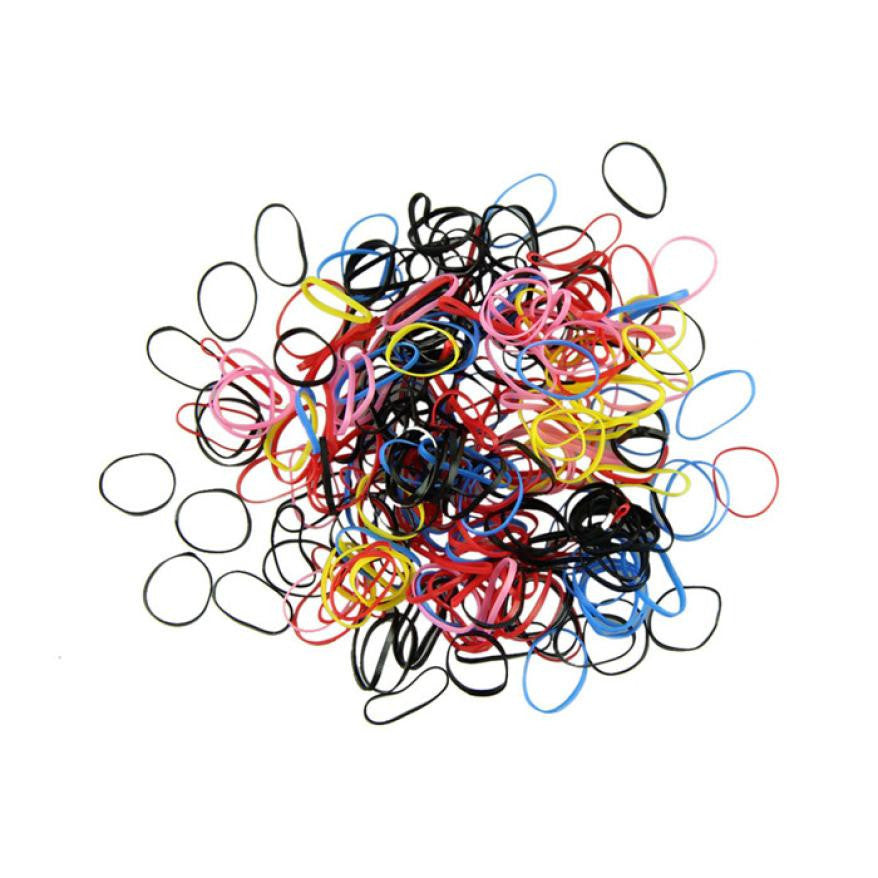 250-300 pcs Rubber Hairband Rope Ponytail Holder - Diana's Space