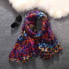 Ladies Color Leopard Print  Scarf - Diana's Space