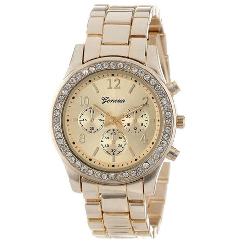 Women's Crystals Watch Metal Band  3 Colors - Diana's Space