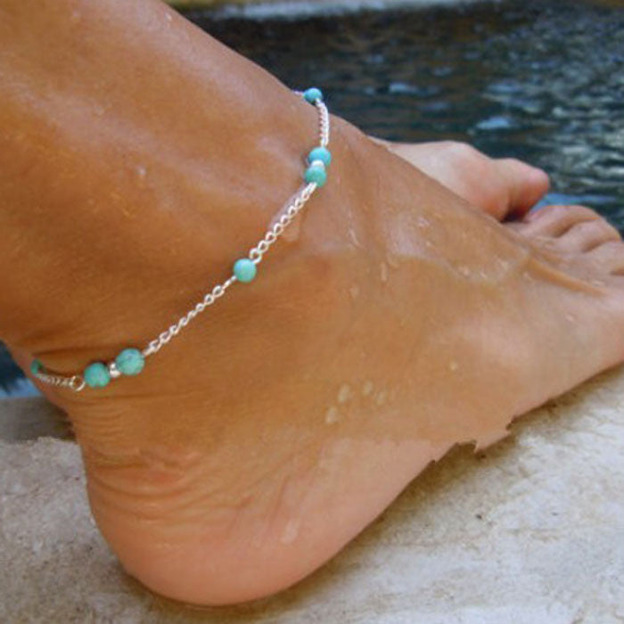 Handmade Bead Chain Anklet - Diana's Space